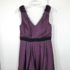 purple ADRIANNA PAPELL dress fit flare eve…